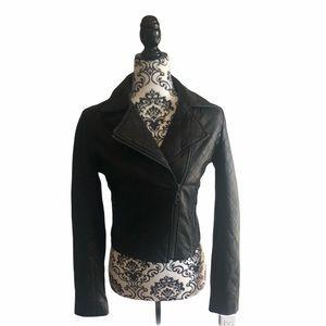 Aritzia Doma leather biker jacket